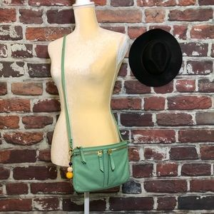 Fossil Turquoise Mint Green Crossbody Purse Bag